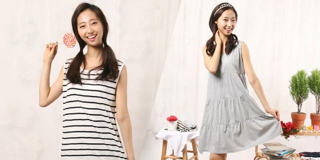 [무료배송] 국내생산 집에서 편하게 입는 잠옷 원피스 모음