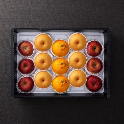 [정성애찬]3종 명품 사과.배.한라봉 선물세트3호 5kg(사과 6입+배 6입+한라봉 3입)